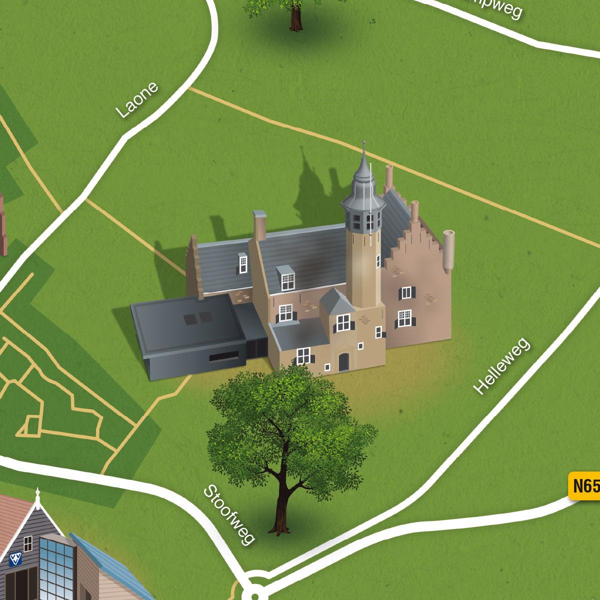 Gethematiseerde plattegrond Renesse - detail 2